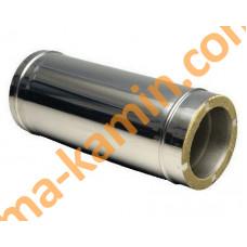 труба из нержавеющей стали с термоизоляцией в нержавеющем кожухе