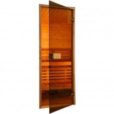 Двери для сауны Saunax 80 * 200 бронза коробка ольха/осина