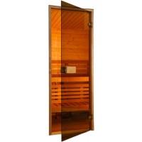 Двери для сауны Saunax 70 * 200 бронза коробка ольха/осина